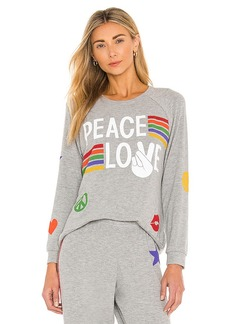 Lauren Moshi Every Peace Love Stripes Pullover
