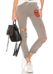 Lauren Moshi Uri Distressed Jogger in Gray. - size XS (also in L,S)