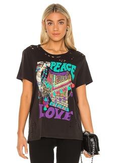 Lauren Moshi Wolf Peace Love Camel Boyfriend Tee