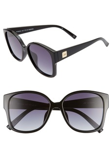 Le Specs Athena 56mm Special Fit Oversized Sunglasses