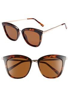 Le Specs Caliente 53mm Polarized Cat Eye Sunglasses