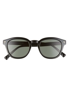 Le Specs Conga 49mm Round Sunglasses