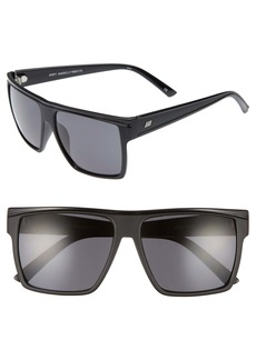 Le Specs Dirty Magic 56mm Rectangle Sunglasses
