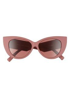 Le Specs Feline Fine 54mm Cat Eye Sunglasses
