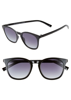 Le Specs Fine Specimen 51mm Square Sunglasses