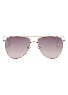 Le Specs High Fangle aviator metal sunglasses