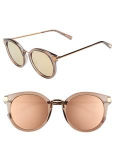 Le Specs Last Dance 51mm Mirrored Round Sunglasses
