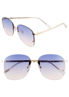 Le Specs Skyline 59mm Rimless Sunglasses