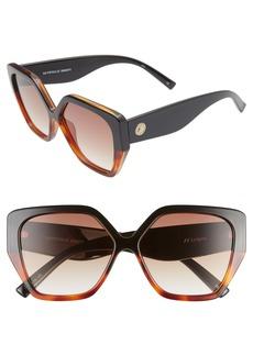 Le Specs So Fetch 58mm Gradient Square Cat Eye Sunglasses