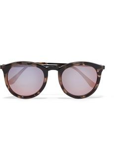 Le Specs No Smirking Round-frame Acetate Mirrored Sunglases