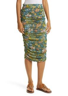 Women's Le Superbe Asphalt Jungle Floral Ruched Skirt