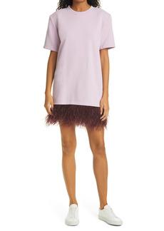 Women's Le Superbe Avian Feather Hem T-Shirt Dress