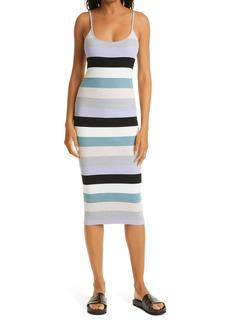 Women's Le Superbe Fruit Stripe Cotton & Silk Blend Rib Sweater Dress
