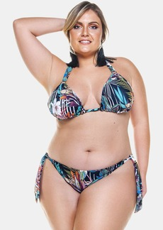 Lehona Double Bikini Top With Metal Detailing For Woman - 24 - Also in: 18, 14, 22, 16, 26, 20