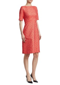 Lela Rose A-Line Jacquard Dress