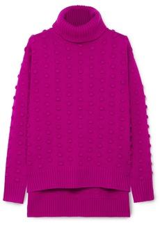Lela Rose Bobble-knit Wool And Cashmere Blend Turtleneck Sweater