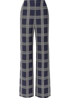 Lela Rose Checked Woven Wide-leg Pants