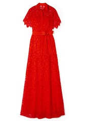 Lela Rose Corded Lace Gown