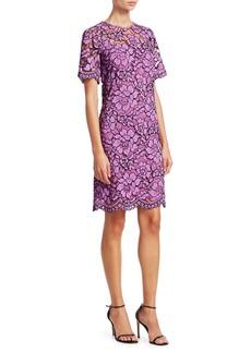 Lela Rose Corded Lace Tunic Dress