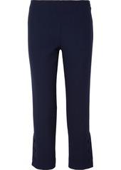 Lela Rose Cropped Wool-blend Cady Straight-leg Pants