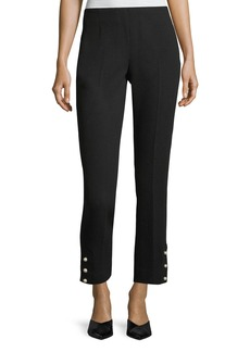 Lela Rose Cropped Wool Crepe Pants