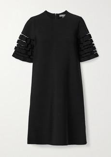 Lela Rose Cutout Stretch-knit Dress