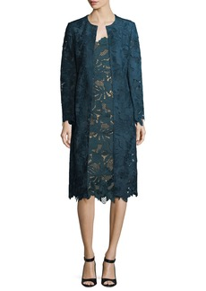 Lela Rose Floral Guipure Lace Coat