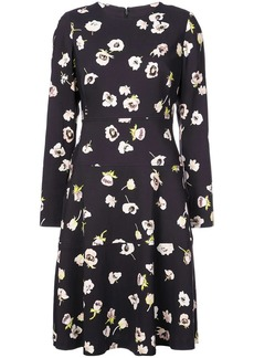 Lela Rose floral print longsleeved dress