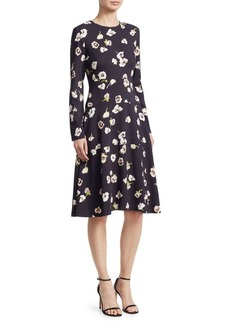 Lela Rose Floral-Print Tiered Dress
