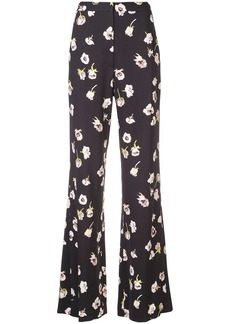 Lela Rose floral printed flared trousers