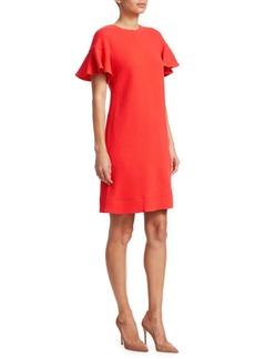 Lela Rose Flutter Sleeve Floral Shift Dress