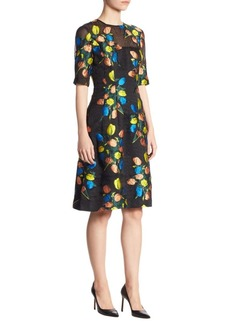 Lela Rose Holly Printed Dress