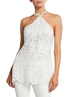 Lela Rose Lace Halter Top