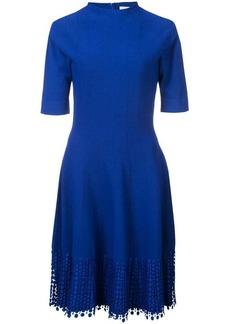 Lela Rose lace hem knitted dress