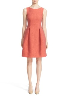 Lela Rose 'Betsy' Embossed Organza Fit & Flare Dress