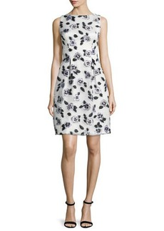 Lela Rose Betsy Full-Skirt Floral Sheath Dress