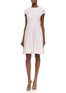Lela Rose Blair Cap-Sleeve Dress