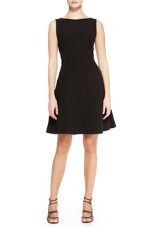 Lela Rose Boat-Neck Dress with Full Skirt