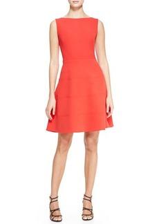 Lela Rose Boat-Neck Dress with Full Skirt