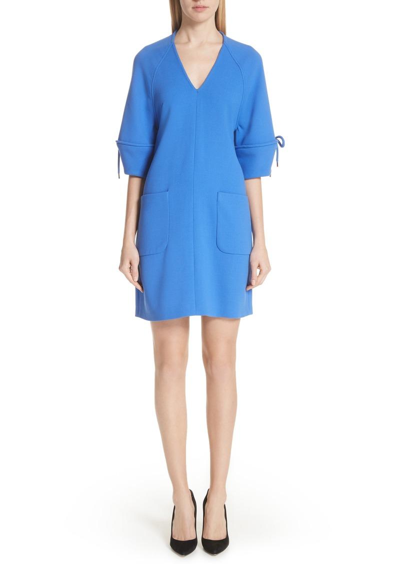 Lela Rose Bow Sleeve Tunic Dress