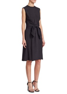 Lela Rose Tie Bow Tunic Dress