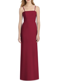 Lela Rose Bridesmaid Bow Back Crepe Gown
