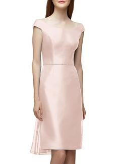 Lela Rose Bridesmaid Embellished Waist Flare Back Dress