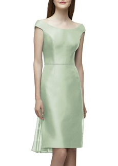 Lela Rose Bridesmaid Embellished Waist Flare Back Dress