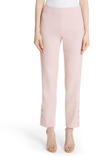Lela Rose Button Hem Crop Pants