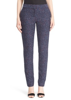Lela Rose 'Caroline' Stretch Jacquard Pants