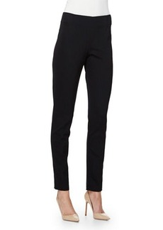 Lela Rose Catherine High-Waist Skinny Pants
