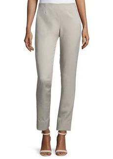 Lela Rose Catherine High-Waist Skinny Pants