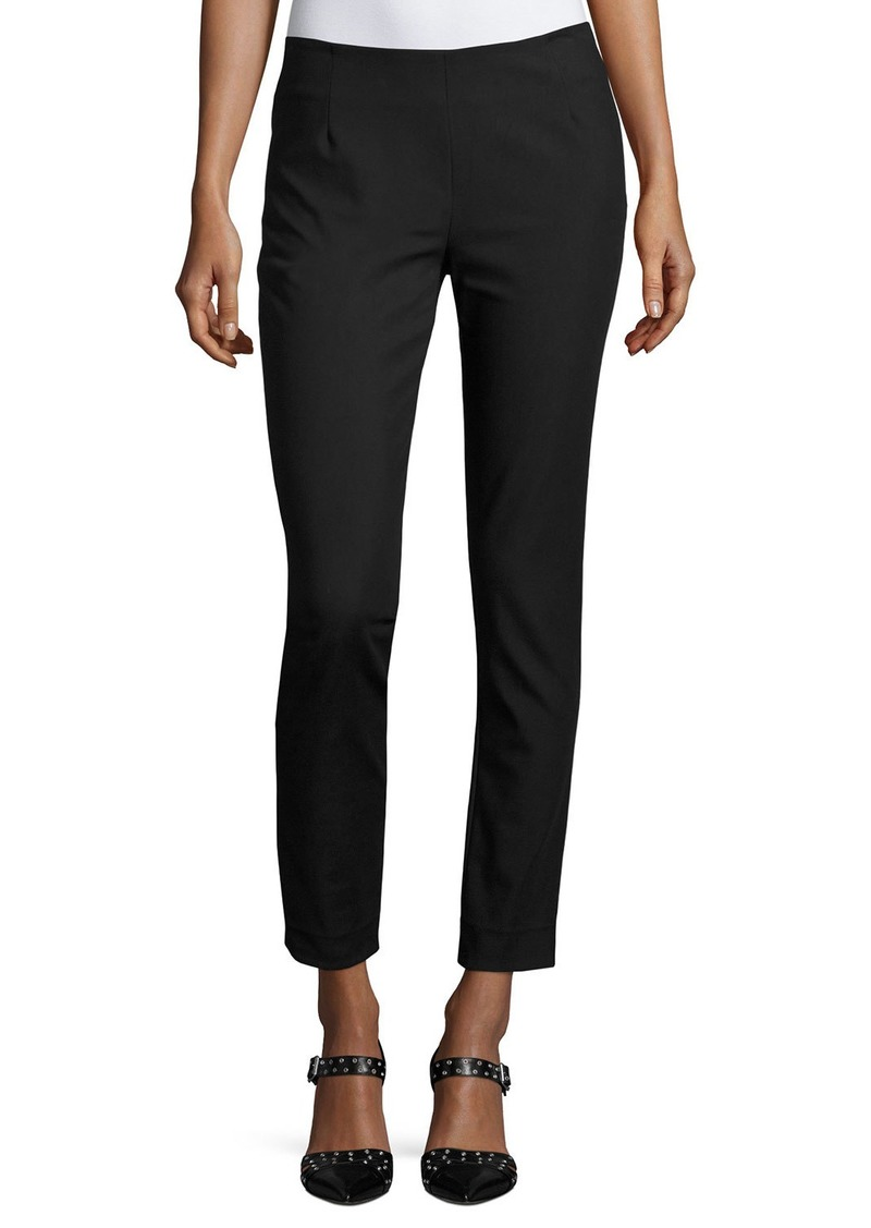 Lela Rose Catherine Slim-Leg Ankle Pants