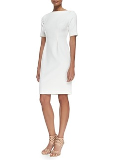 Lela Rose Claire Boat-Neck Dress